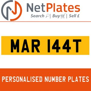 MAR 144T PERSONALISED PRIVATE CHERISHED DVLA NUMBER PLATE For Sale
