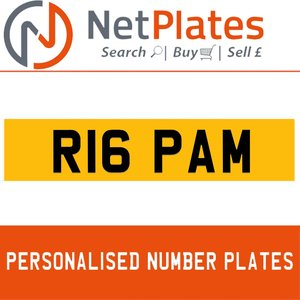 R16 PAM PERSONALISED PRIVATE CHERISHED DVLA NUMBER PLATE For Sale