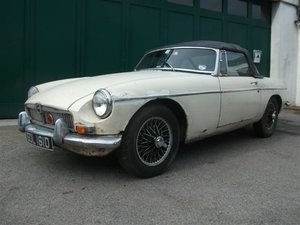 1966 MGB Roadster project, 3 owners, original car! SOLD