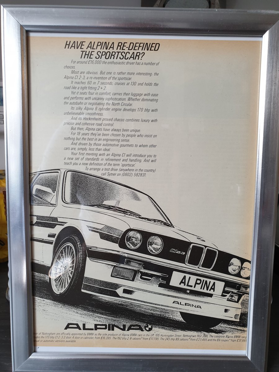 1984 Original Alpina C1 2.3 Advert For Sale (picture 1 of 2)