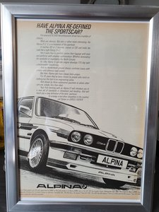 Original 1984 Alpina C1 2.3 Framed Advert
