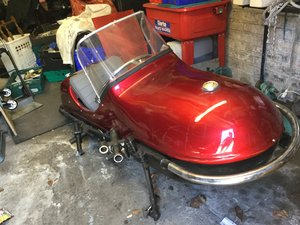 1970 Side car and chassis with wheel For Sale