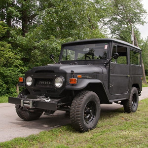 1971 Toyota FJ-40 Land Cruiser HardTop Black 6-Cyls $27.9k For Sale