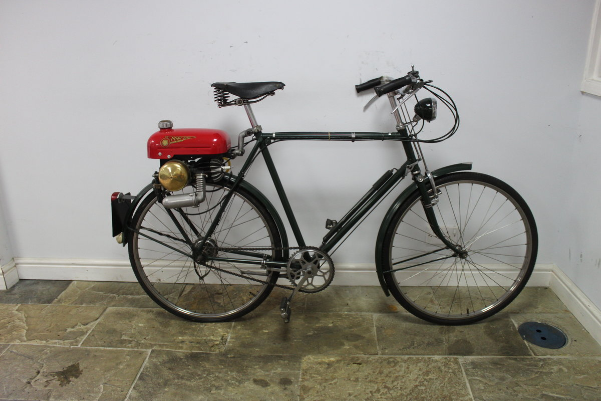 1955 Trojan Mini Motor on Period Bicycle  Restored SOLD (picture 1 of 4)