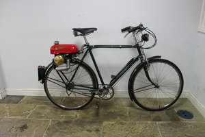 1955 Trojan Mini Motor on Period Bicycle  Restored SOLD