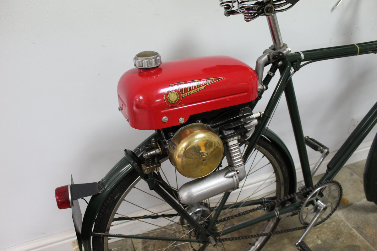 1955 Trojan Mini Motor on Period Bicycle  Restored SOLD (picture 3 of 4)