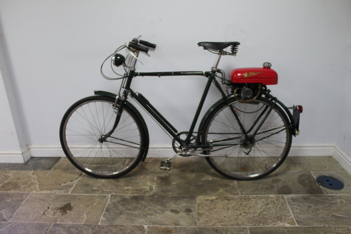 1955 Trojan Mini Motor on Period Bicycle  Restored SOLD (picture 4 of 4)