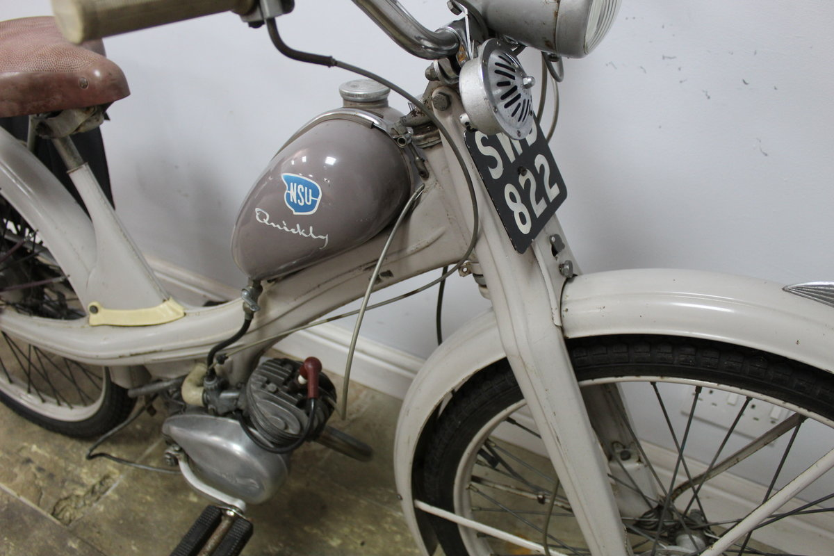 1955 NSU Quickly 49 cc Moped Beautiful ORIGINAL Untouched SOLD (picture 3 of 6)