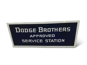 Dodge Brothers Approved Service Station Porcelain Sign For Sale by Auction