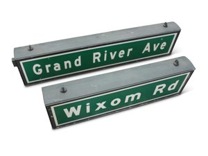 Wixom Rd and Grand River Ave Street Signs For Sale by Auction