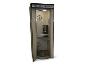 Nice Outside Metal Pay Telephone Booth For Sale by Auction