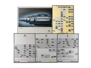 Evolution of Porsche Framed Posters For Sale by Auction