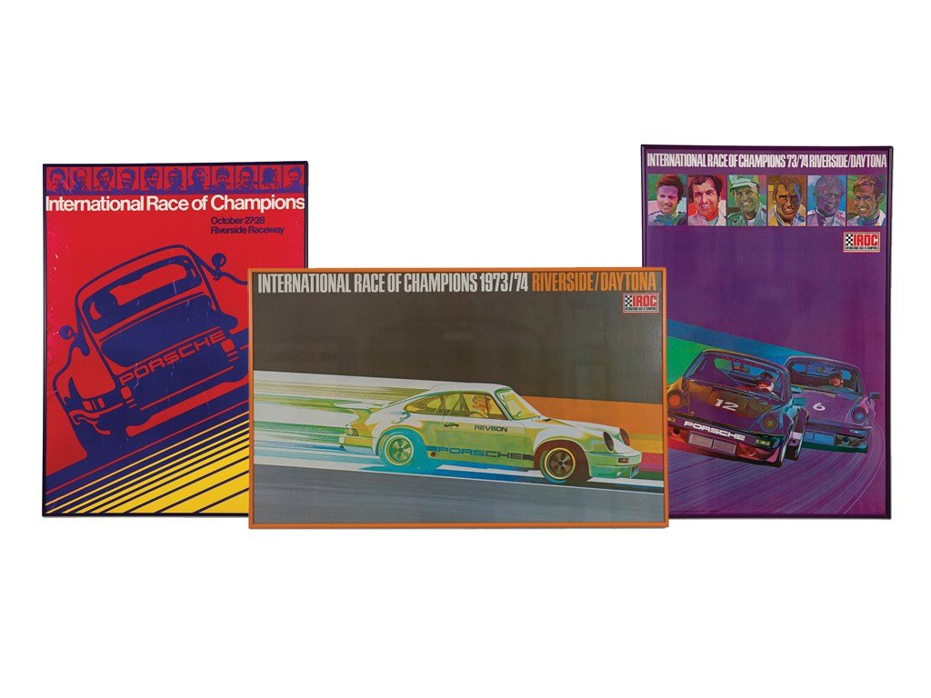 International Race of Champions (IROC) Framed Porsche Poster For Sale by Auction (picture 1 of 1)