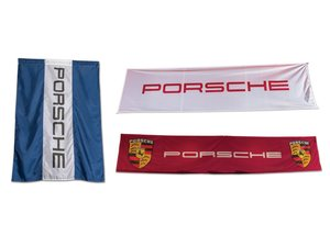 Pair of Porsche Banners and Flag For Sale by Auction