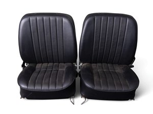 Porsche 356 Black Vinyl Bucket Seats For Sale by Auction