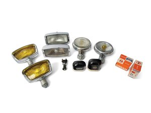 Two Pairs of Bosch Fog Lamps and Osram Spare Bulb Containers For Sale by Auction