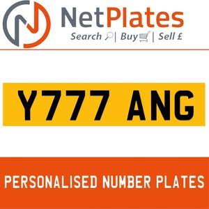 Y777 ANG PERSONALISED PRIVATE CHERISHED DVLA NUMBER PLATE For Sale