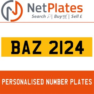 BAZ 2124 PERSONALISED PRIVATE CHERISHED DVLA NUMBER PLATE For Sale