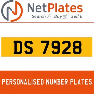 DS 7928 PERSONALISED PRIVATE CHERISHED DVLA NUMBER PLATE For Sale