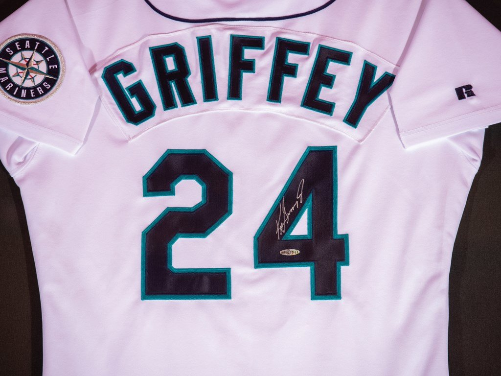 the latest 156e2 8bd9a Ken Griffey Jr. Seattle Mariners Autographed Jersey For Sale ...