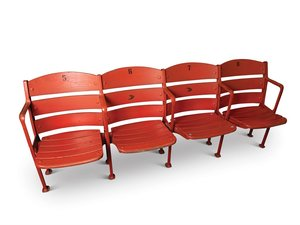 Box Stadium Seats from Crosley Field, 5-8 For Sale by Auction