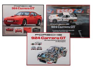 Porsche 924 Carrera GT Framed Posters For Sale by Auction