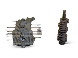 Volkswagen Two-Piece Engine Case and Crankshaft For Sale by Auction
