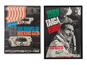 Porsche 1968 Targa Florio and 1970 Six Hours of Watkins Glen For Sale by Auction