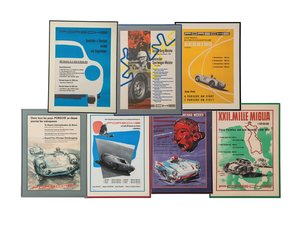 Porsche Racing Framed Posters, 1950s For Sale by Auction