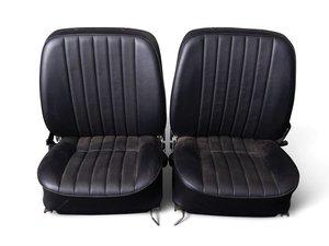 Porsche 356 Black Leatherette Bucket Seats For Sale by Auction
