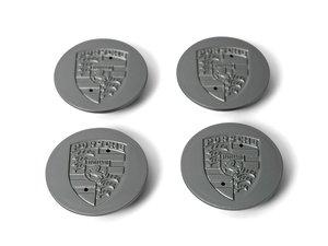 Silver Porsche Crest Center Caps For Sale by Auction