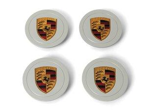 Painted Porsche Crest Center Caps For Sale by Auction