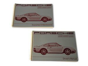 Porsche 959 Drivers Manual and Guarantee & Maintenance Bookl For Sale by Auction