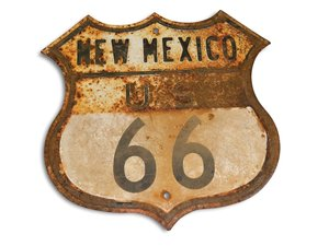 New Mexico U.S. Route 66 Shield Tin Sign For Sale by Auction
