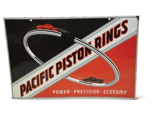 """Pacific Piston Rings """"Power-Precision-Economy"""" with Cars Ver For Sale by Auction"""