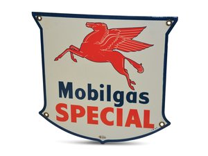 Mobilgas Special with Pegasus Porcelain Sign For Sale by Auction