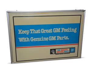 GM Quality Service Parts Lighted Plastic Sign For Sale by Auction