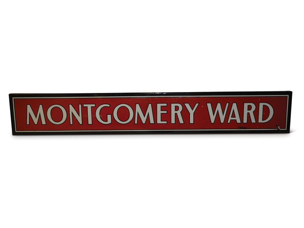 Montgomery Ward Porcelain Sign For Sale by Auction (picture 1 of 1)