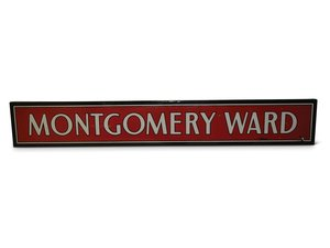 Montgomery Ward Porcelain Sign For Sale by Auction