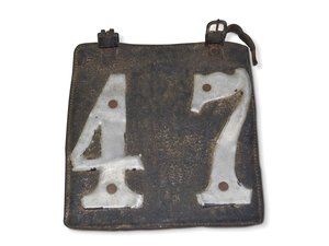 Letter License Plate No. 47 For Sale by Auction