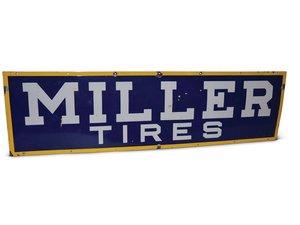 Miller Tires Porcelain Sign For Sale by Auction