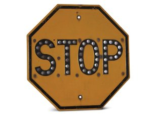 Stop Sign with Reflective Marbles For Sale by Auction