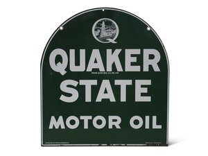 """Quaker State Motor Oil"" Tombstone Sign For Sale by Auction"