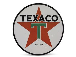 Texaco I.D. Porcelain Sign For Sale by Auction