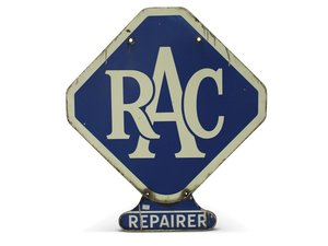 """RAC Repairer"" Porcelain Sign For Sale by Auction"