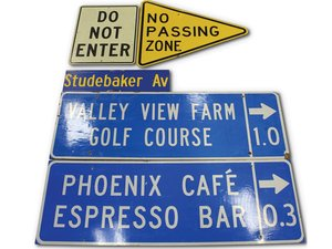 Assorted Street Signs For Sale by Auction