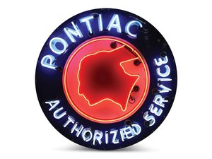 Pontiac Neon Sign For Sale by Auction