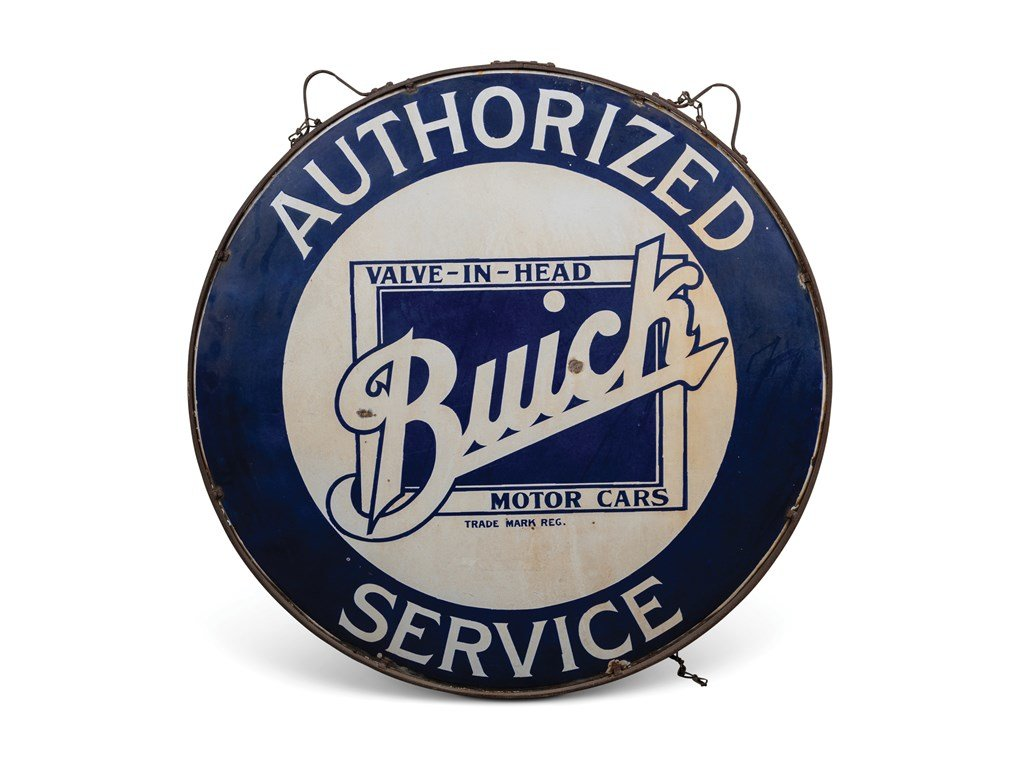 Buick Authorized Service Double-Sided Sign For Sale by Auction (picture 1 of 1)