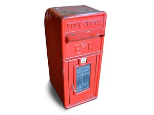 British Metal Mail Box For Sale by Auction