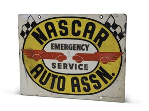 """NASCAR Auto Assn. Emergency Service"" Metal Sign For Sale by Auction"